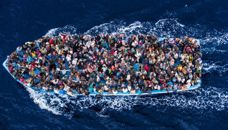 Massimo Sestini, UK Halts support to mediterranean migrant rescue operation GFMD Civil Society